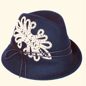 Dressy Blue Hat With Stones